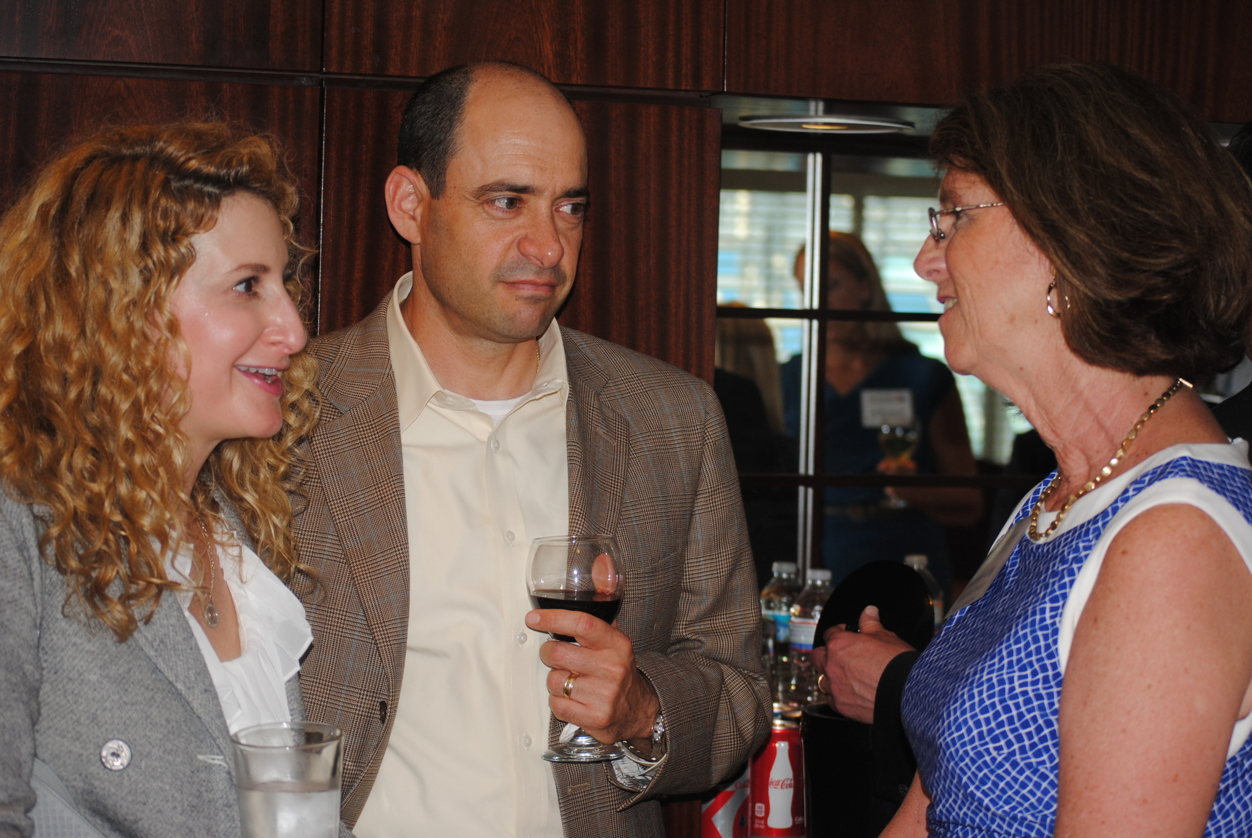 Maureen Lilly with guests at DC Reception