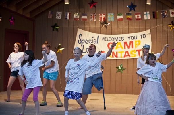 Kids perform at Camp Fantastic's annual talent show.
