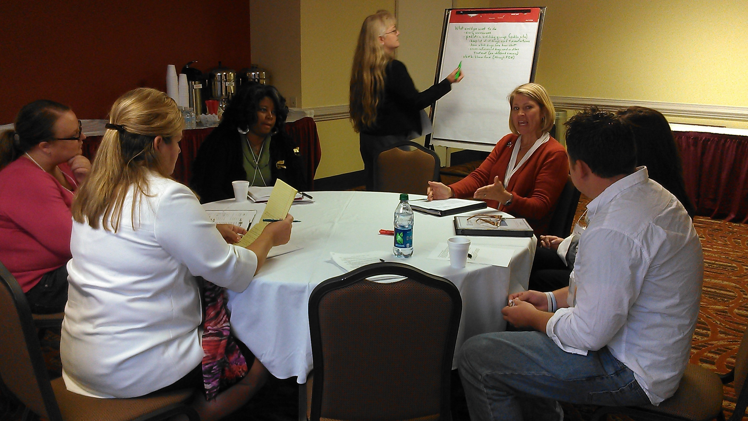 Advocates working together at CCCA's 2012 workshop.