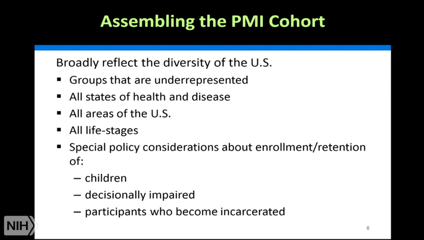 Slide from an NCI Stakeholders Briefing on the PMI Report, 9.25.15