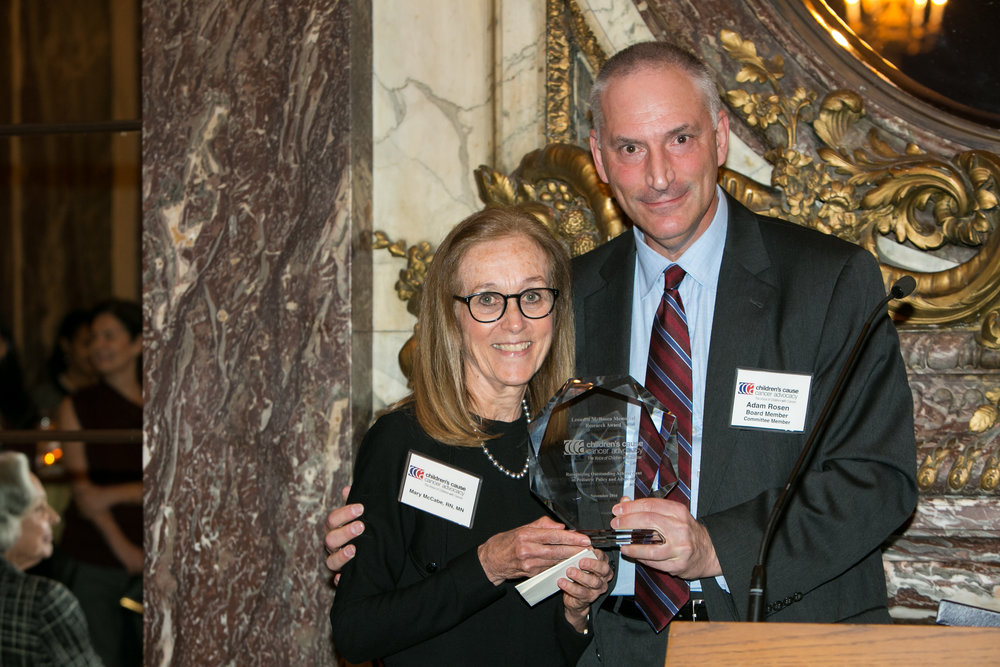 Rosen Award recipient Mary McCabe with Adam Rosen, son of Leonard Rosen