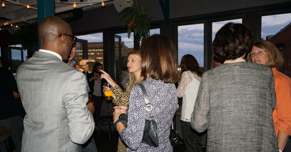 Above: Friends and supporters at the Children's Cause social event in DC, September 2017.