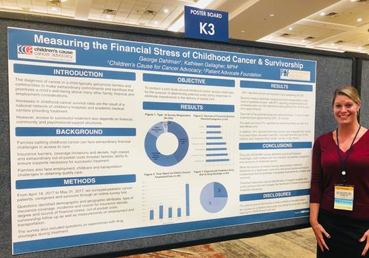 Thank you to Kathleen Gallagher of the  Patient Advocate Foundation  for manning our shared poster presentation at the 2018 ASCO Quality Care Symposium!