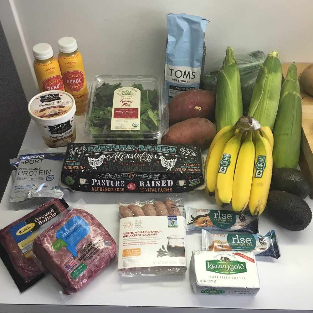 A pretty nutritious shopping trip, but which of the above items are Paleo, aren't Paleo, and/or are technically Paleo, but not Paleo in the true sense of the concept?