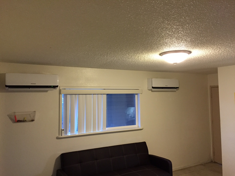 Private Residence, 2 LEZETi A/C units installed