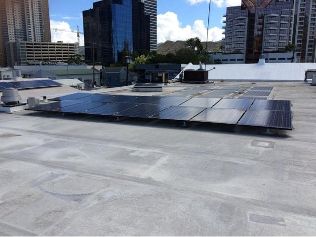 Kakaako Office | Rooftop PV Install | LEZETi