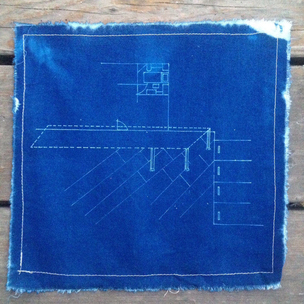 Amy's House // cyanotype on linen, 2008