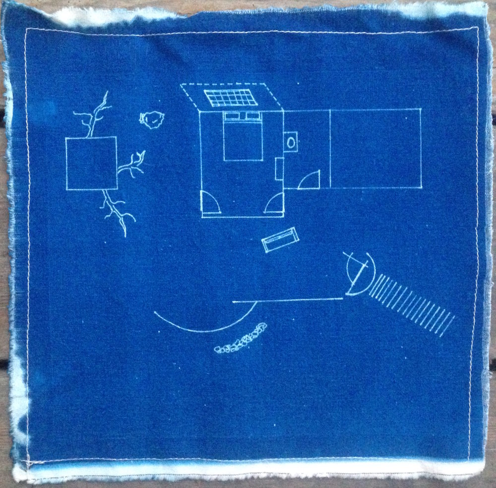 Anna's House //  cyanotype on linen, 2008