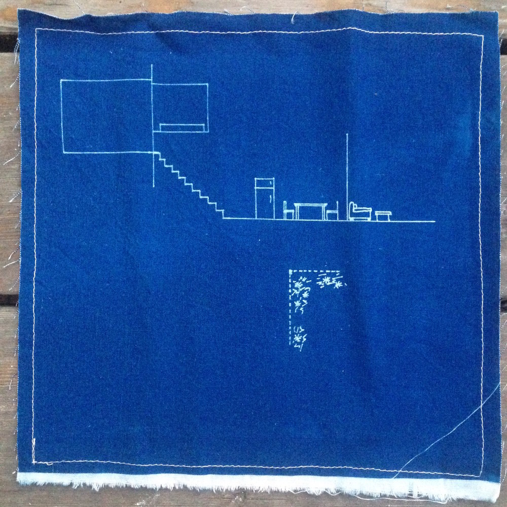 Jessie's house //  cyanotype on linen, 2008