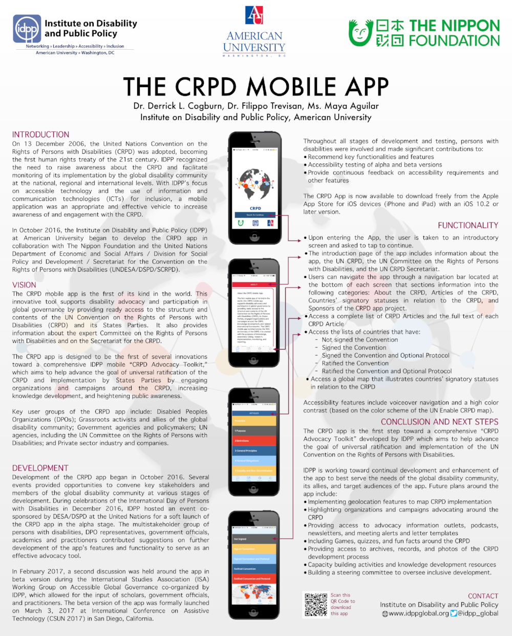 IDPP Presents Research & CRPD Mobile App at UMD Disability Summit