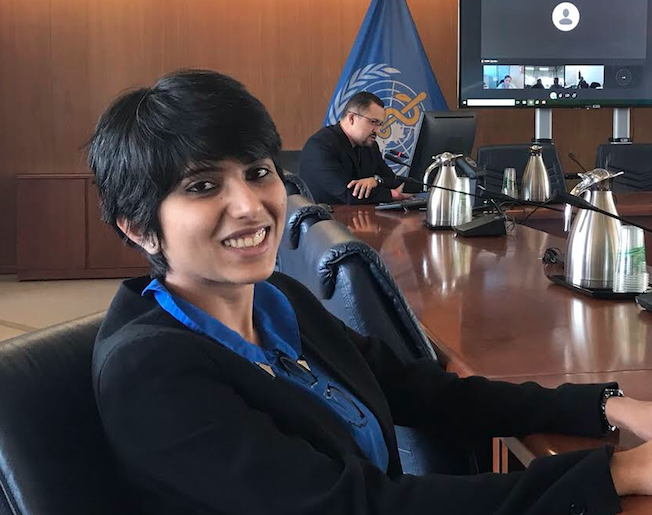 Harshala during an IDPP site visit to the Pan American Health Organization (PAHO) headquarters in Spring 2019.