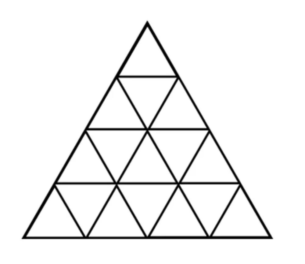 How many  triangles  do you see in this picture?