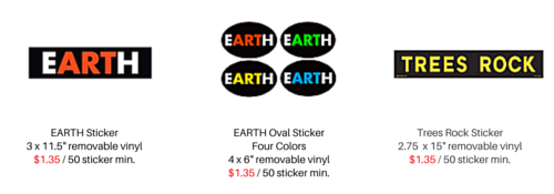 Earth Sticker Wholesale Pricing 1