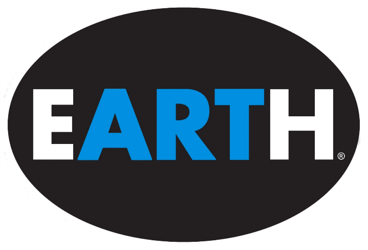 4 x 6 vinyl oval EARTH sticker