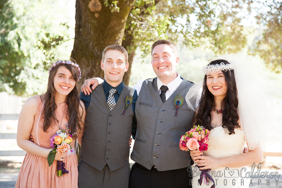 Wedding at Quail Hollow Ranch in Felton, CA.  Photos by Briana Calderon Photography, based out of the San Francisco Bay Area.