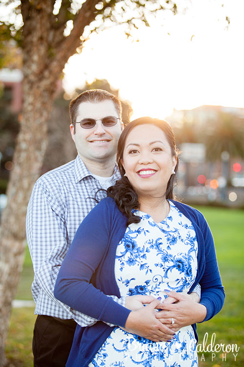 AT&T Park San Francisco engagement shoot.  Photos by Briana Calderon Photography based in the San Francisco Bay Area.