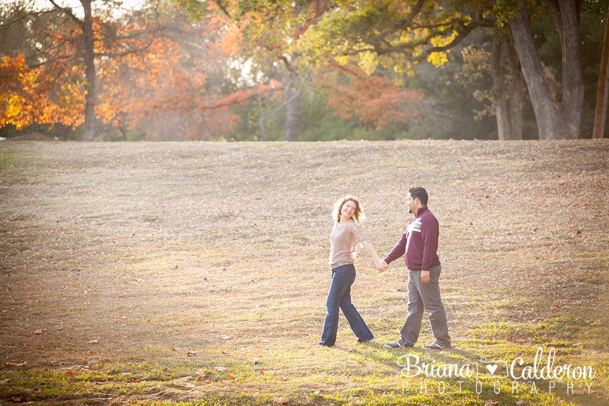 Engagement shoot in Vasona Park in Los Gatos, CA.  Photos by Briana Calderon Photography based in the San Francisco Bay Area.
