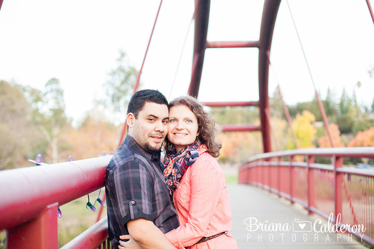 Engagement shoot in Vasona Park in Los Gatos, CA.  Photos by Briana Calderon Photography based in the San Francisco Bay Area.