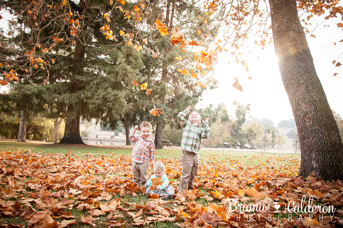Family portrait session at Spring Valley Pond in Milpitas, CA.  Pictures by Briana Calderon Photography based in the San Francisco Bay Area.