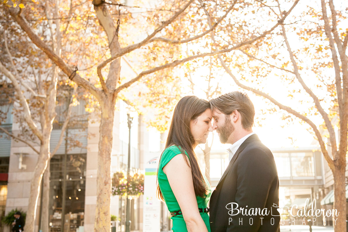 Engagement pictures in Downtown San Jose, Ca. Photos by Briana Calderon Photography based in the San Francisco Bay Area.