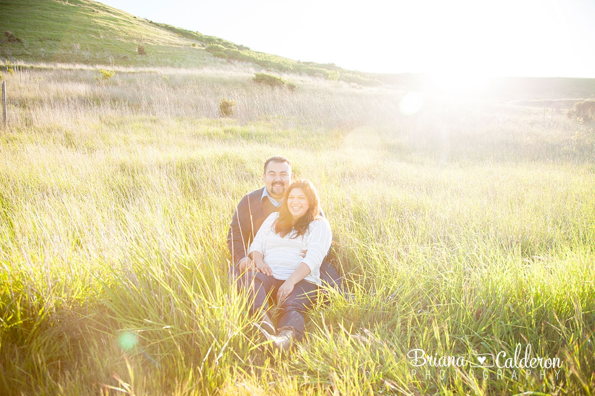 Engagement photo shoot at Coyote Hills Regional Park in Fremont, CA.  Photos by Briana Calderon Photography based in the San Francisco Bay Area.