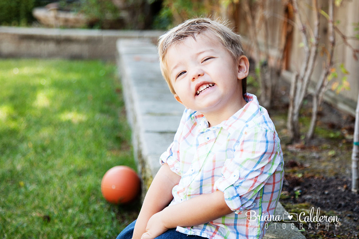 Two (2) year old boy portrait session in Milpitas, CA. Photos by Briana Calderon Photography based in the San Francisco Bay Area.