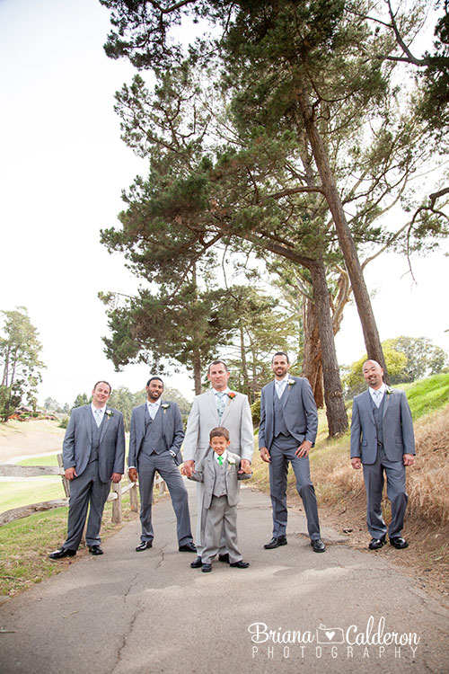 Wedding photos at Seascape Golf Club in Aptos, CA.  Pictures by Briana Calderon Photography based in the San Francisco Bay Area.