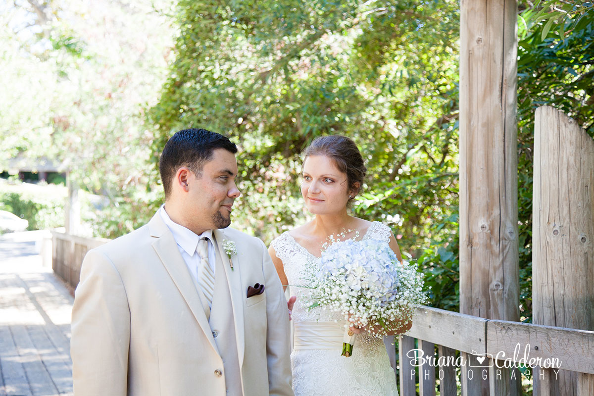 Wedding pictures at Saratoga Springs in Saratoga, California.  Photos by Briana Calderon Photography based in the San Francisco Bay Area.