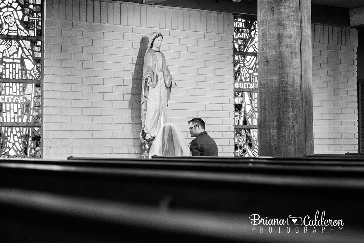 Wedding photos at St. Felicitas Church in San Leandro, CA. Photos by Briana Calderon Photography based in the San Francisco Bay Area.