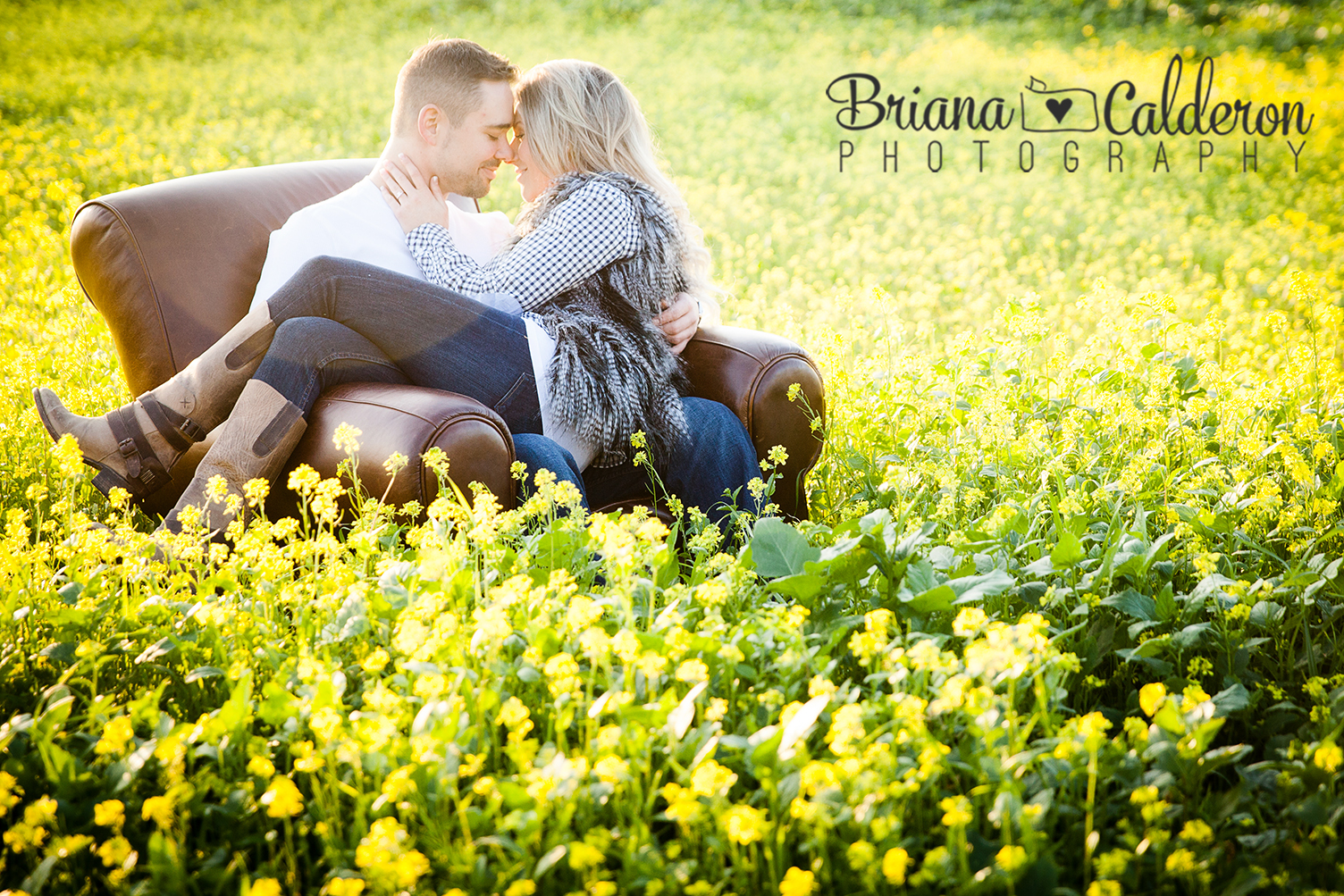 Country style Engagement photo session in San Jose, CA.  Pictures by Briana Calderon Photography based in the San Francisco Bay Area.