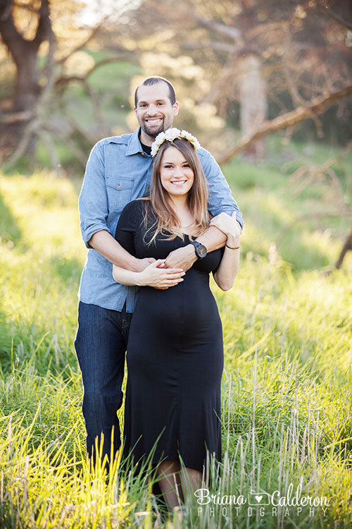 Maternity pictures at Spring Valley Pond field in Milpitas, CA.  Photos by Briana Calderon Photography based in the San Francisco Bay Area.