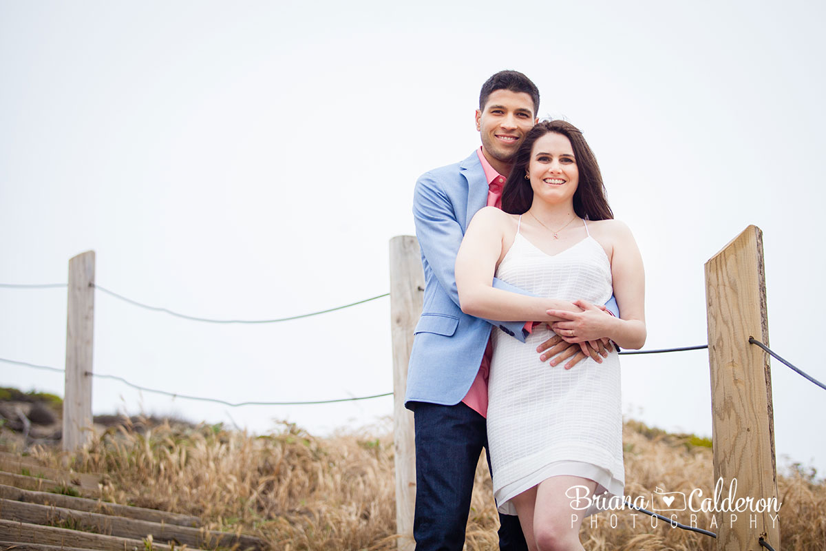 Engagement photo shoot at the Sutro Baths and Land's End Trail in San Francisco. Pictures by Briana Calderon Photography based in the San Francisco Bay Area.