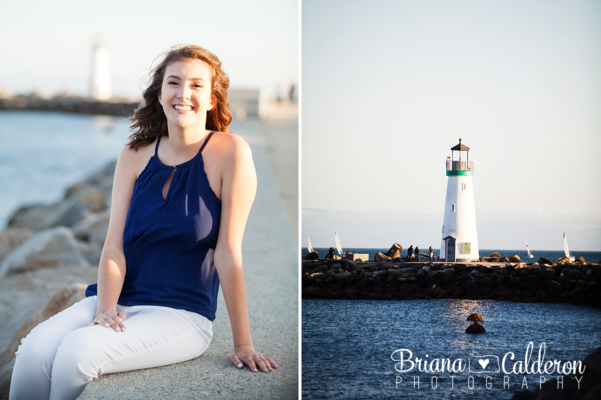 High School senior portraits at Seabright beach and Santa Cruz Beach Boardwalk.  Pictures by Briana Calderon Photography based in the San Francisco Bay Area California.