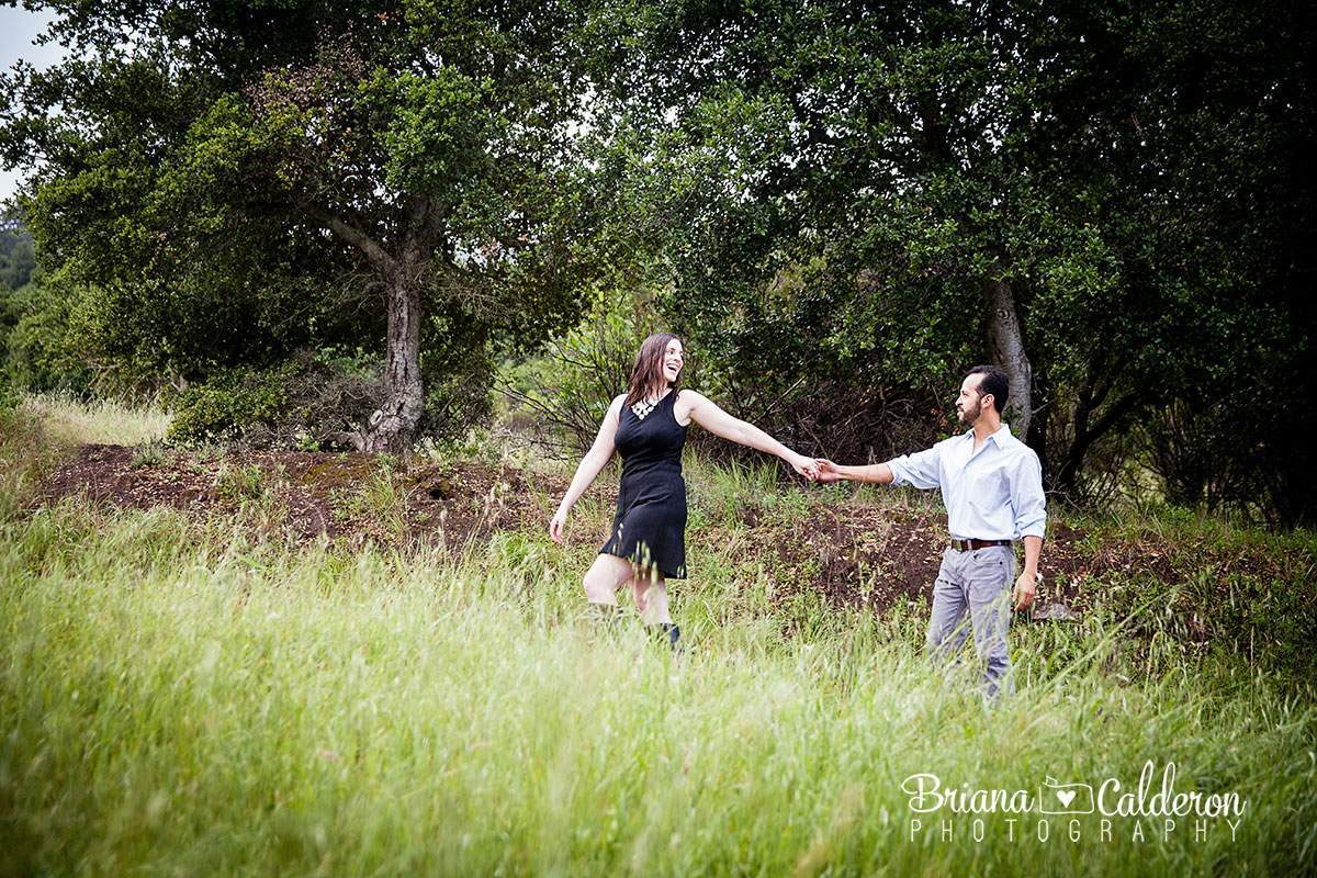 Engagement pictures at Picchetti Winery in Cupertino, CA.  Photos by Briana Calderon Photography based in the San Francisco Bay Area California.