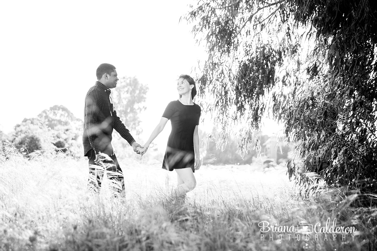 Engagement photo shoot at Ulistac Natural Area in Santa Clara, CA.  Pictures by Briana Calderon Photography based in the San Francisco Bay Area.