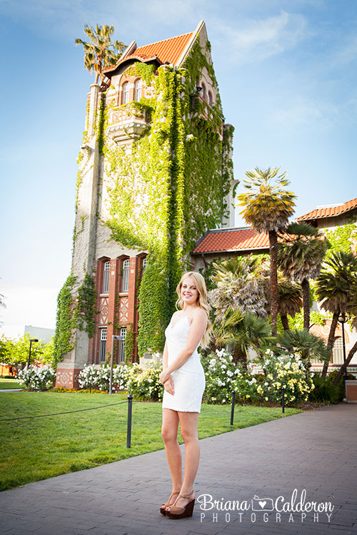College and high school senior graduation portraits at San Jose State University in San Jose, California.  Pictures by Briana Calderon Photography based in the San Francisco Bay Area.