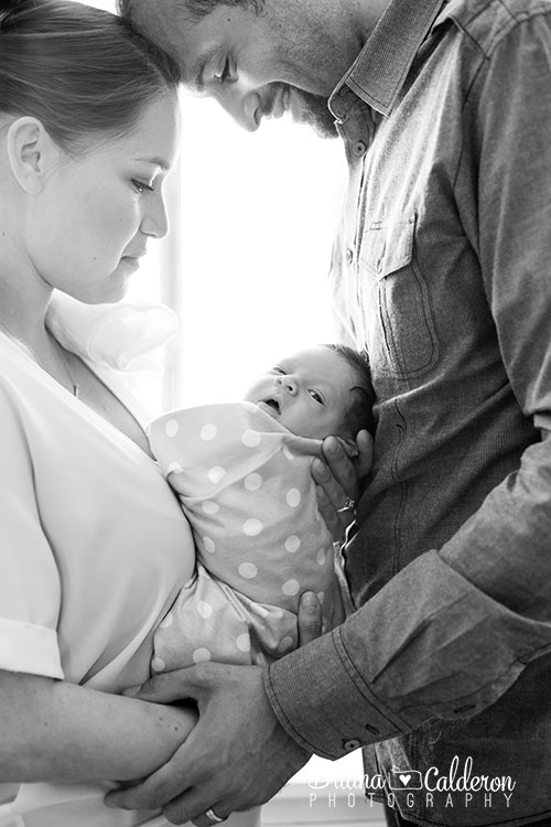 Lifestyle newborn baby portraits in Los Angeles, CA.  Photos by Briana Calderon Photography based in the San Francisco Bay Area California.