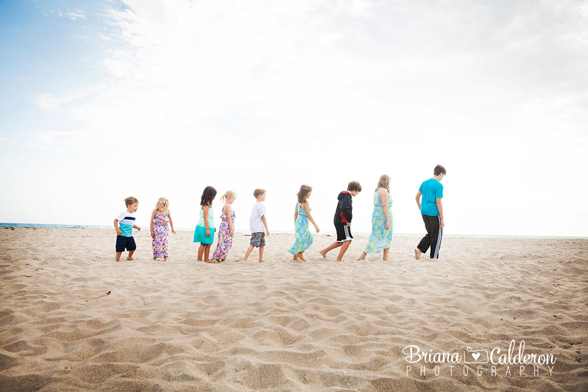 Family portrait shoot at Pajaro Dunes Beach in Watsonville, CA.  Pictures by Briana Calderon Photography based in the San Francisco Bay Area California.