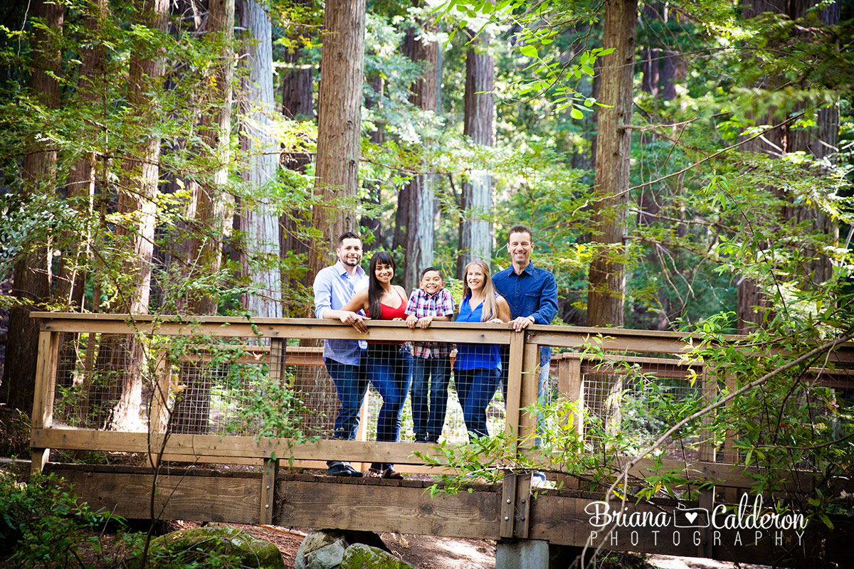 Family portrait shoot at Sanborn County Park in Saratoga, CA.  Photos by Briana Calderon Photography based in the San Francisco Bay Area California.
