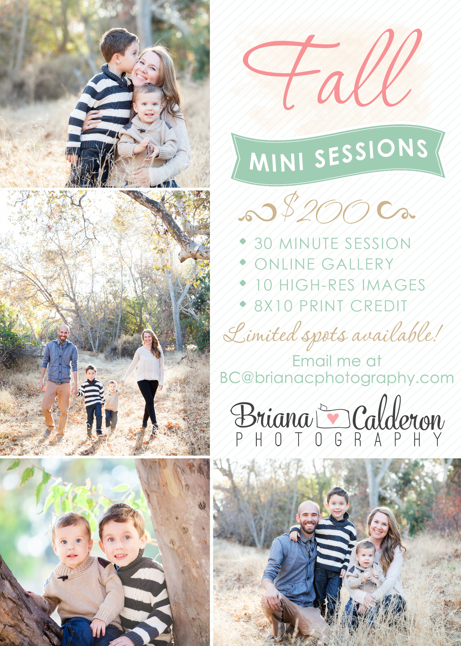 Fall mini photo sessions by Briana Calderon Photography based in the San Francisco Bay Area in California.