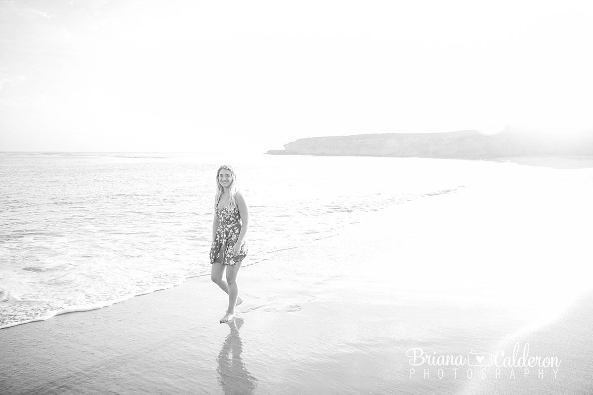 Senior portrait shoot at Four Mile Beach in Santa Cruz, California. Photos by Briana Calderon Photography based in the San Francisco Bay Area , CA.