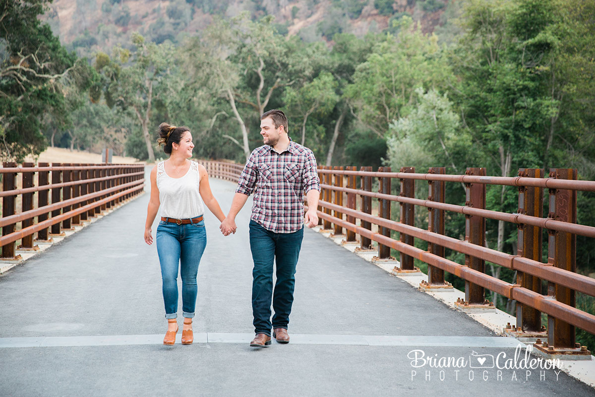 Engagement shoot in Sunol Regional Wilderness in Sunol, CA. Pictures by Briana Calderon Photography based in the San Francisco Bay Area in California.