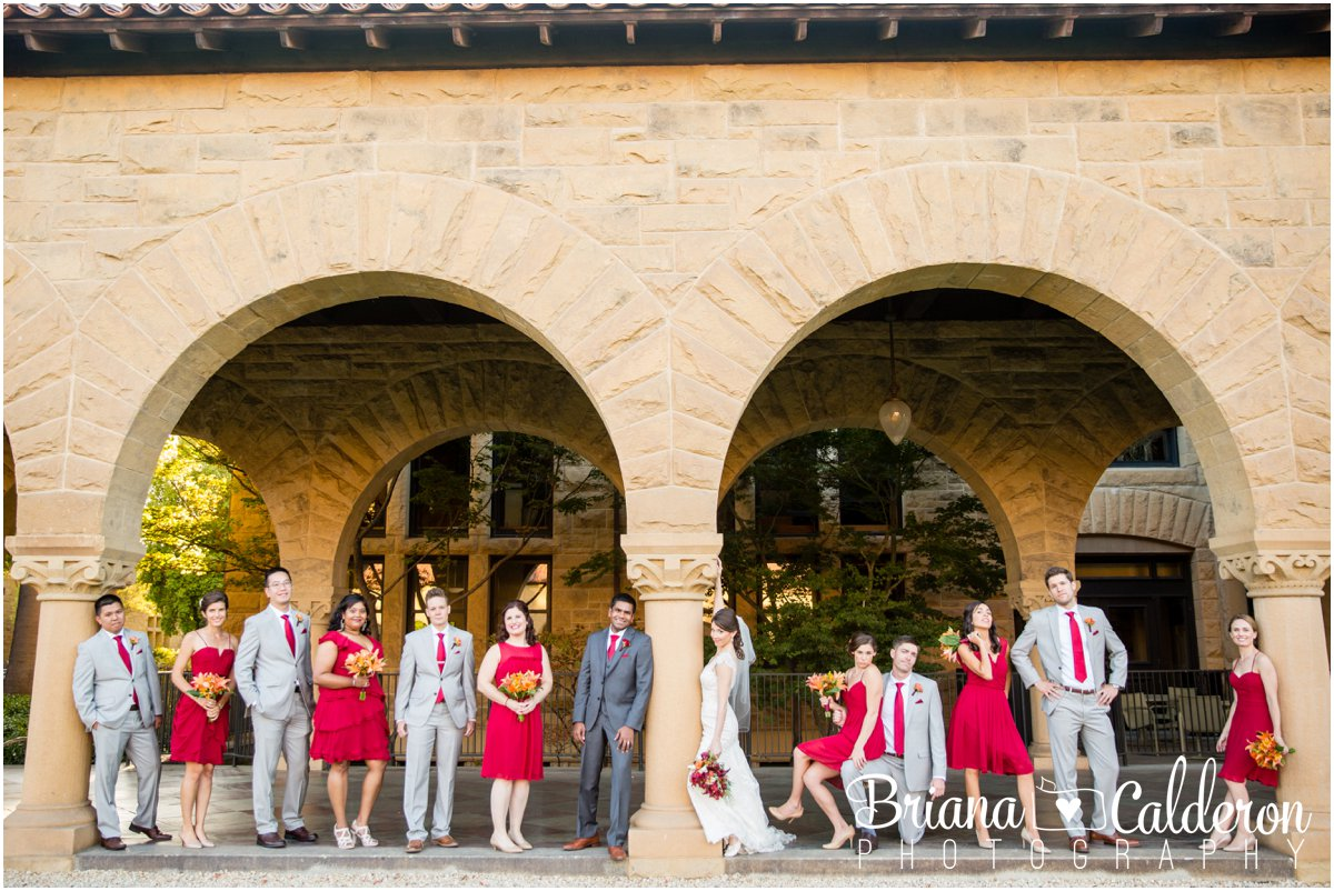 Stanford Memorial Church wedding ceremony and Palo Alto Hills Golf and Country Club reception in Palo Alto, CA. Photos by Briana Calderon Photography based in the San Francisco Bay Area.