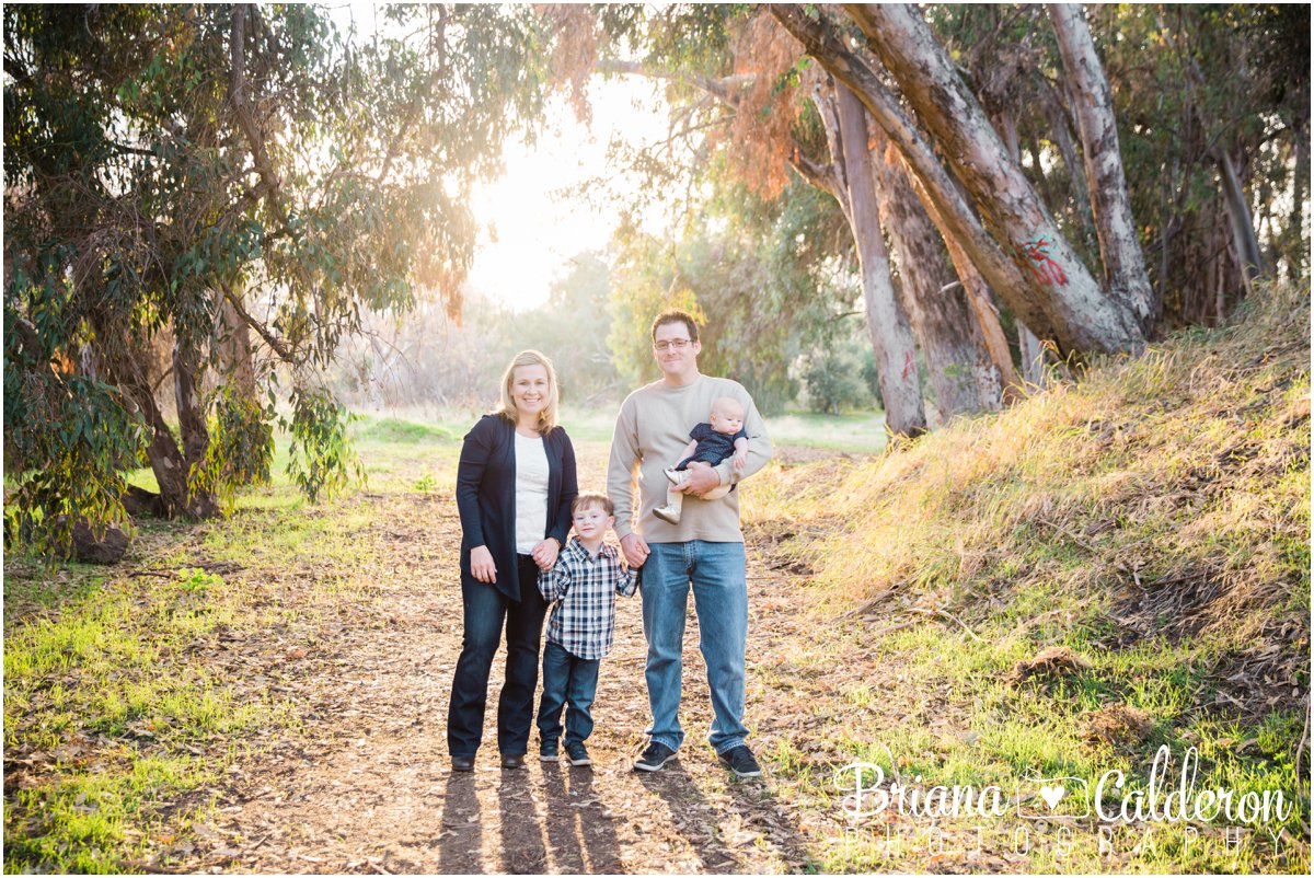 Fall family mini portrait session in San Jose, CA outside of Alum Rock Park. Photos by Briana Calderon Photography based in the San Francisco Bay Area in California.