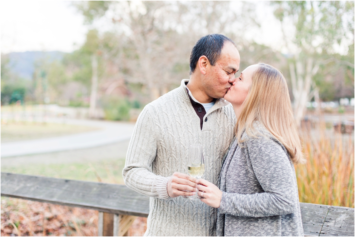 Engagement shoot at Vasona Lake Park in Los Gatos, CA. Photos by Briana Calderon Photography based in the San Francisco Bay Area in California.