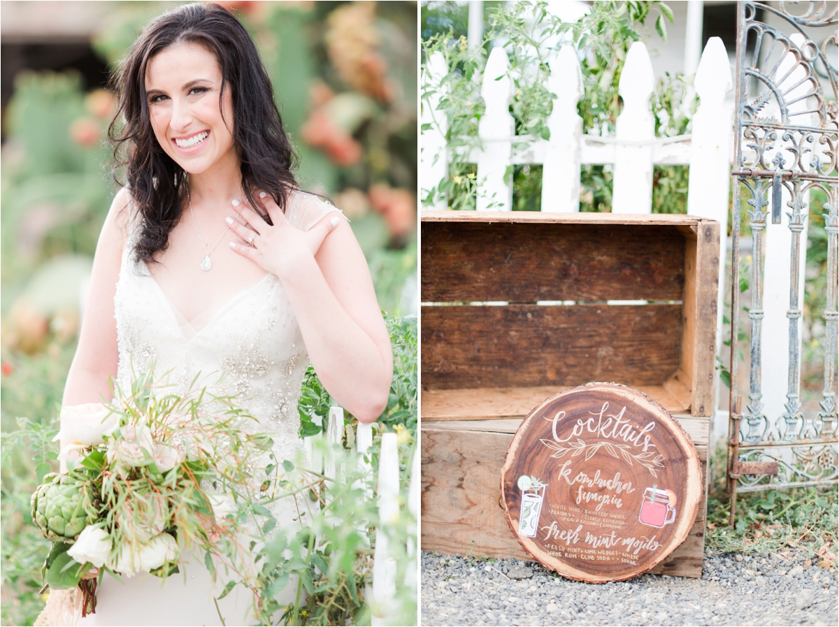 Natural and organic farm to table wedding inspiration styled shoot at the Vivify Workshop at Reinstein Ranch in Livermore, CA. Photos by Briana Calderon Photography based in the San Francisco Bay Area in California.