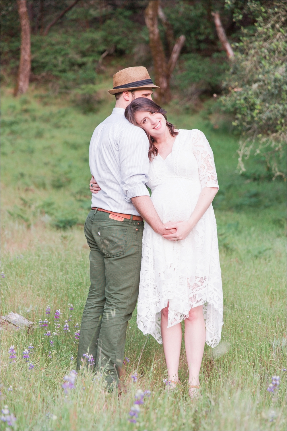 Rustic maternity portraits at Quail Hollow Ranch in Felton, CA. Photos by Briana Calderon Photography based in the San Francisco Bay Area, California.