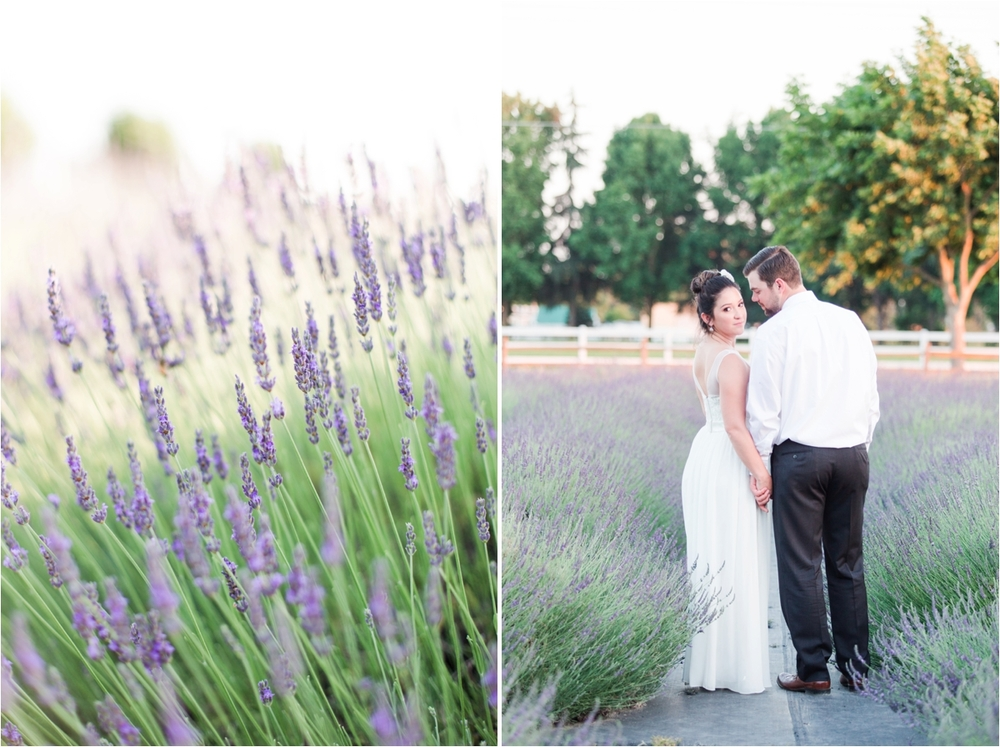 Wedding photos at Pageo Lavender Farm in Turlock, CA. Photos by Briana Calderon Photography based in the San Francisco Bay Area in California.