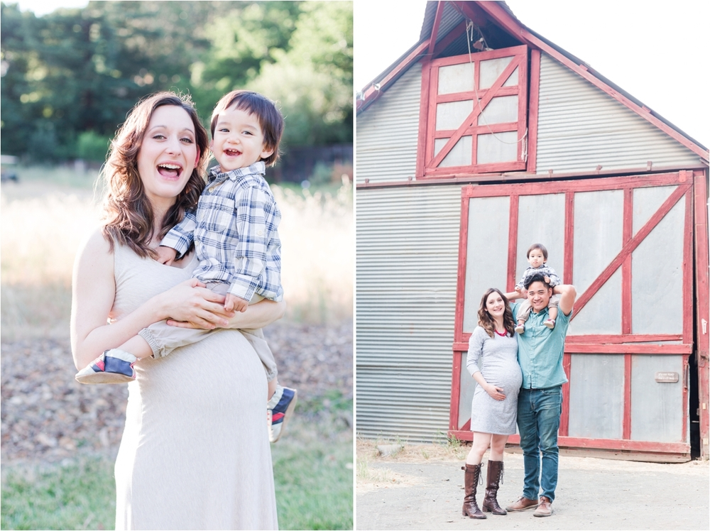Family maternity portraits at Hidden Villa in Los Altos hills, CA. Photos by Briana Calderon Photography based in the San Francisco Bay Area in California.