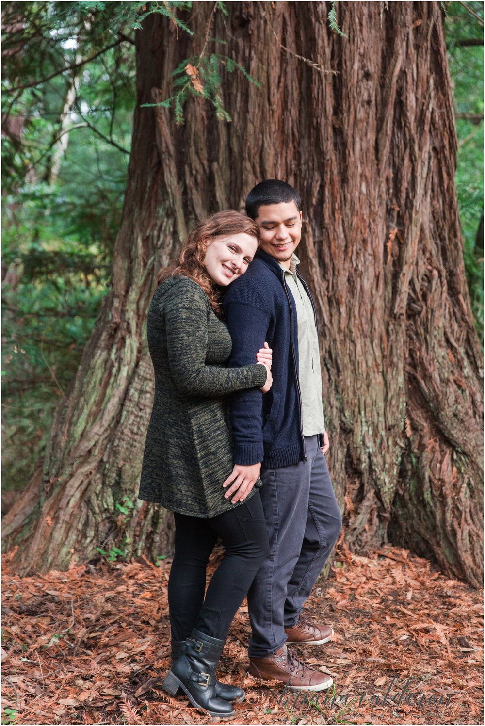 Engagement pictures at Henry Cowell Redwoods in Felton, CA by Briana Calderon Photography_1346.jpg